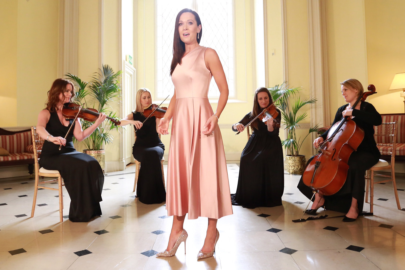 Maria-with-String-Quartet - Wedding Singer.ie